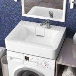 Раковина над стиральной машиной Sanrif Сапфир 600х500