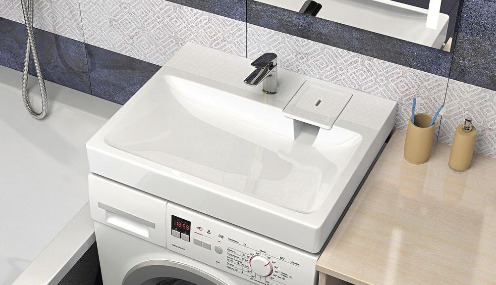 Раковина над стиральной машиной Sanrif Ультрамарин
