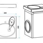 Раковина над стиральной машиной Sanrif Индиго 600х600
