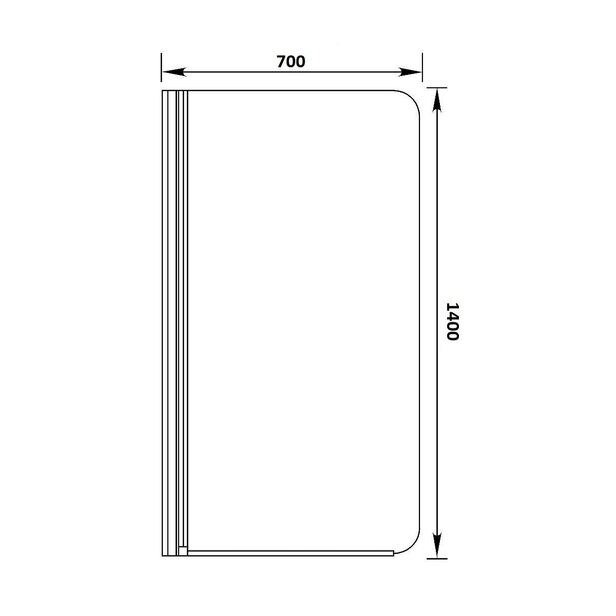 Шторка для ванной стеклянная Sanrif SR-70 схема