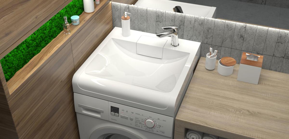 Раковина над стиральной машиной Sanrif Кипр 600х600