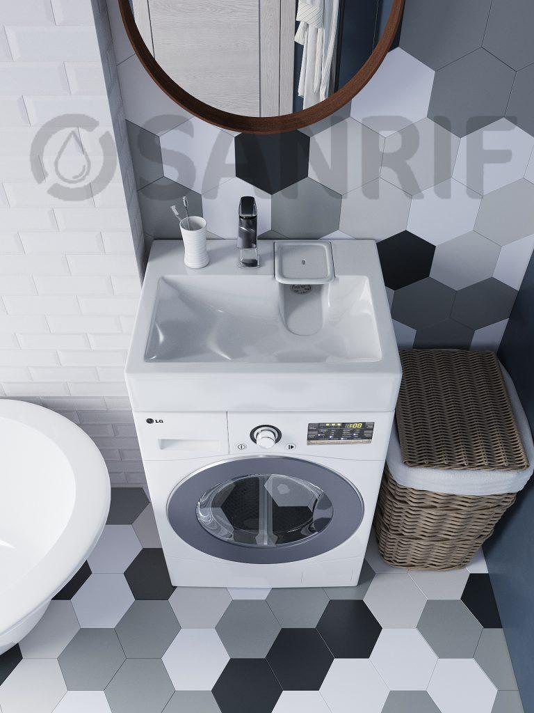 Раковина над стиральной машиной Sanrif Kaste 600х600