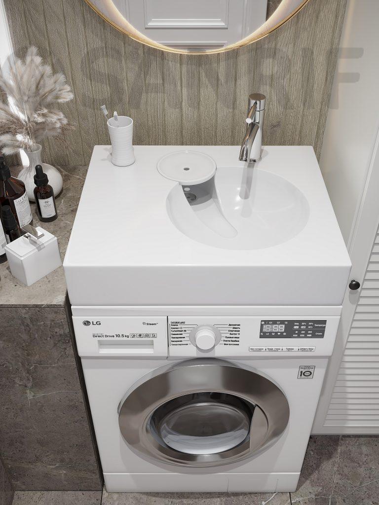 Раковина над стиральной машиной Sanrif Aplis 600х500